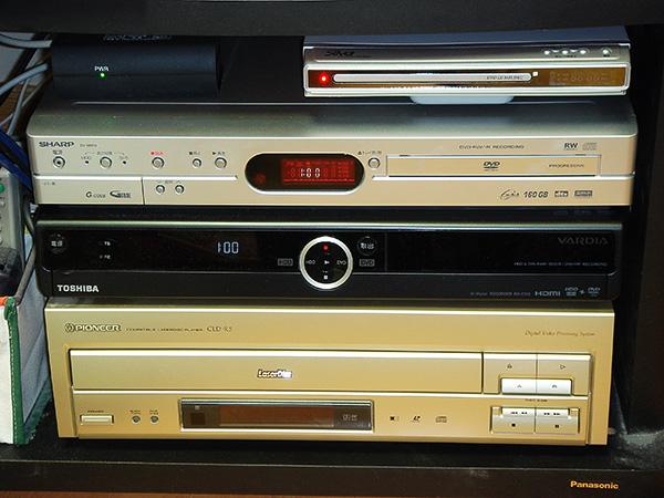 DVDレコーダーなど