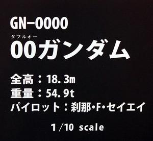 1/10スケール GN-0000 00ガンダム ネームプレート