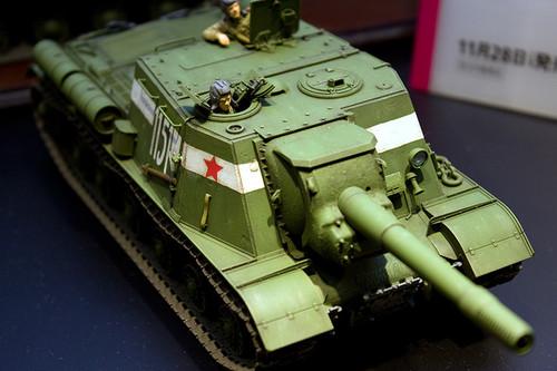 1/35ミリタリーミニチュアシリーズ No.303 ソビエト重自走砲 JSU-152 前アップ