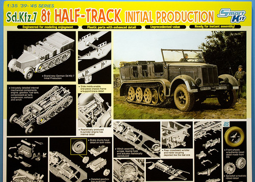 1:35 ドラゴンモデル ドイツ Sd.Kfz.7 8t ハーフトラック 極初期型 ポップ