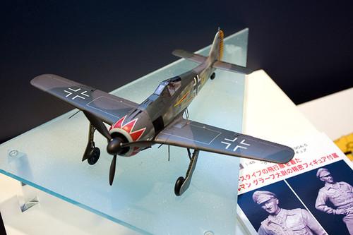 1:48 飛行機シリーズ フォッケウルフ Fw190A-5「グラ-フ」w/フィギュア 全景前