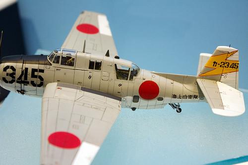 1/72 飛行機シリーズ TBM-3S2 アベンジャー「海上自衛隊」 左後ろ