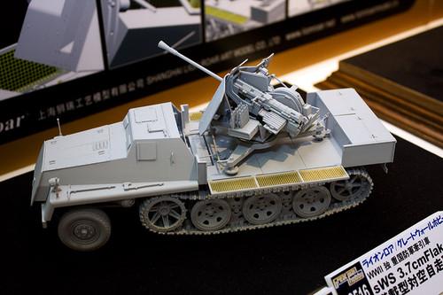 1/35 WWII 独 重国防軍牽引車 sWS 3.7cm Flak43 搭載型対空自走砲 全景左