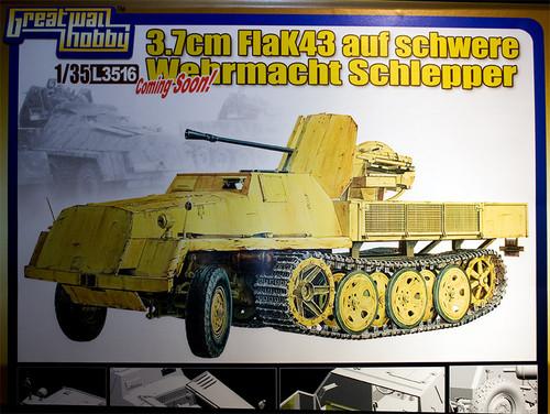 1/35 WWII 独 重国防軍牽引車 sWS 3.7cm Flak43 搭載型対空自走砲 ポップ