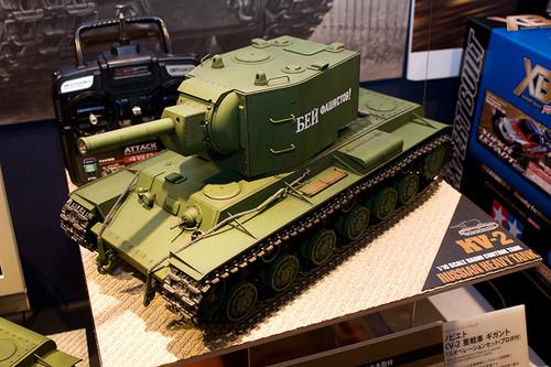 1/16RCタンクシリーズNo.29 ソビエト KV-2 重戦車 ギガント 全景左前
