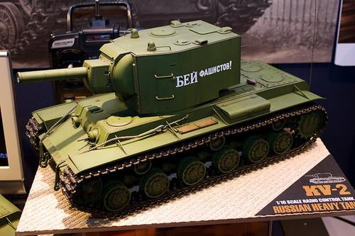1/16RCタンクシリーズNo.29 ソビエト KV-2 重戦車 ギガント 全景左