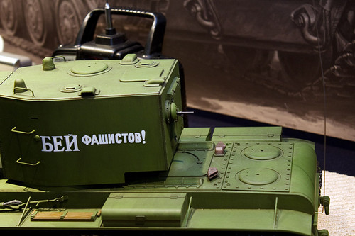 1/16RCタンクシリーズNo.29 ソビエト KV-2 重戦車 ギガント 後ろ上部