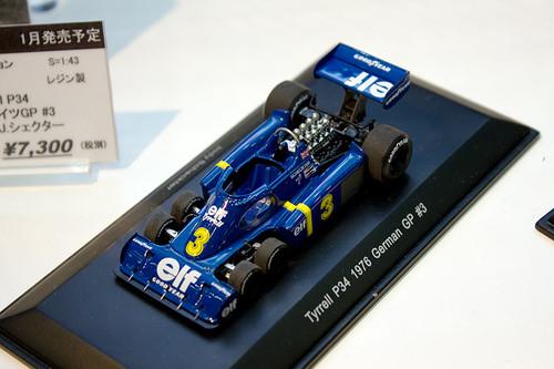1:43 レジン製 レーブコレクション Tyrrell P34 1976年 ドイツGP #3 全景左上