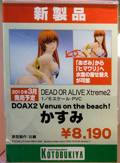 DEAD OR ALIVE Xtreme 2 DOAX2 Venus on the beach! かすみ ネームプレート