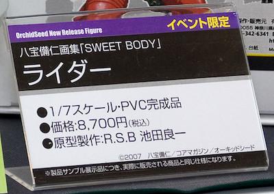 八宝備仁画集「SWEET BODY」ライダー イベント限定 ネームプレート