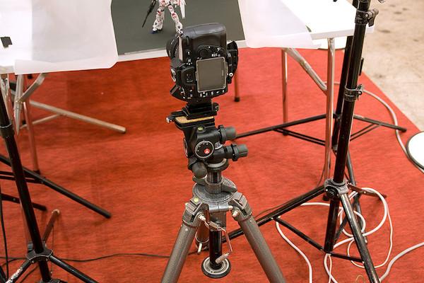 プロの撮影ブース カメラ+三脚 1