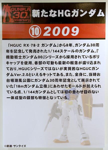 ⑩新たなHGガンダム 2009 POP