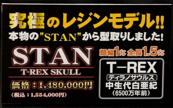 STAN T-REX SKULL ネームプレート