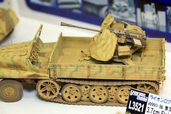 1/35 WWII 独 重国防軍牽引車 sWS 3.7cm Flak43 対空機関砲搭載型(非装甲キャビン型) 4
