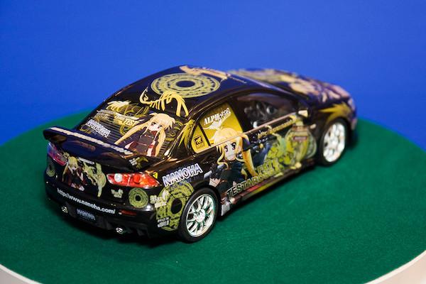 1/24痛車 No.18 魔法少女リリカルなのは The MOVIE 1st フェイト・テスタロッサ ランサーエボリューションX オプション 3