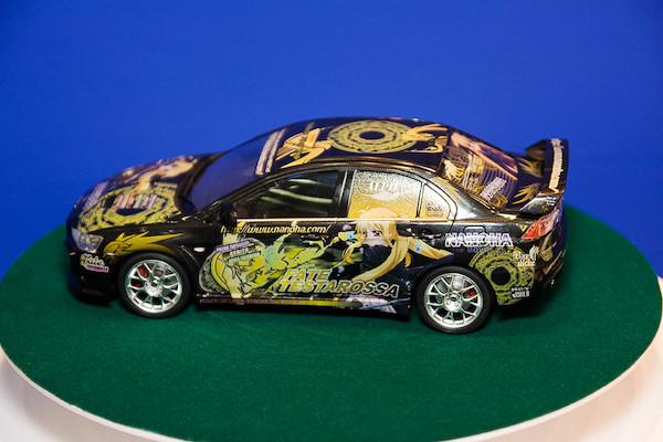 1/24痛車 No.18 魔法少女リリカルなのは The MOVIE 1st フェイト・テスタロッサ ランサーエボリューションX オプション 4