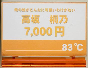 俺の妹がこんなに可愛いわけがない 高坂 桐乃 ネームプレート