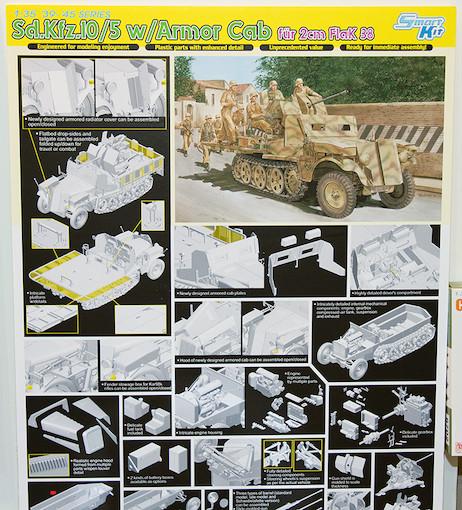 1/35 Sd.Kfz.10/5 w/Armor Cab für 2cm Flak38 POP